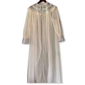 Vintage American Maid Sheer Lace Dressing Gown